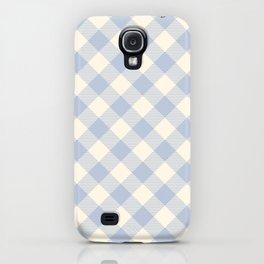 PASTEL GINGHAM 04, lavender blue diamonds iPhone Case