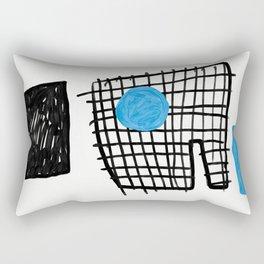a graphic montage Rectangular Pillow