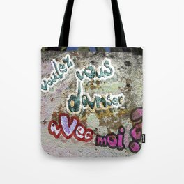 Do you want to dance with me? Tote Bag