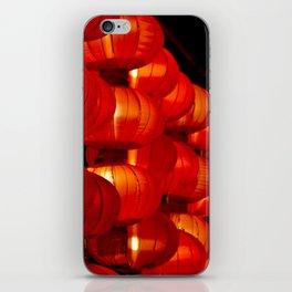 Vibrant red Chinese lanterns iPhone Skin