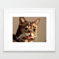 lil bub Framed Art Prints featuring Lil Bub by Roxie Prince