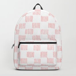 Hatch marks in Pink Backpack