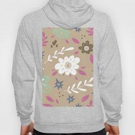 Flowers and butterflies In Brown Pattern Hoody