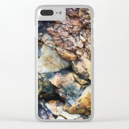 Jagged Rock Texture Clear iPhone Case