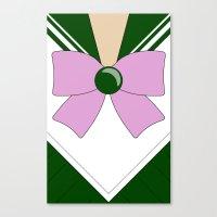 sailor jupiter Canvas Prints featuring Sailor Jupiter by kscullington | kristina anne