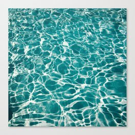 Turquoise Poolside Reflections Canvas Print