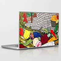 vegetable Laptop & iPad Skins featuring Vegetable market by Bozena Wojtaszek