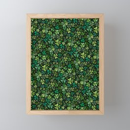 Luck in a Field of Irish Clover Framed Mini Art Print