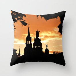 Sunset in Old Montreal Throw Pillow