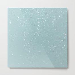 Snowfall paint splatter Metal Print
