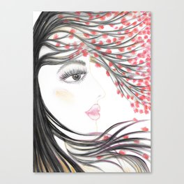 Sakura Face Canvas Print