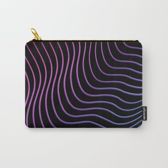 Neon Waves Carry-All Pouch