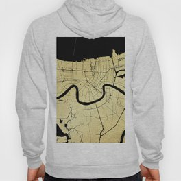 New Orleans Black and Gold Map Hoody