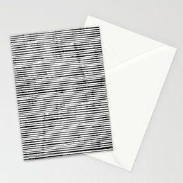 Rustic, Abstract Stripes Pattern, Black and White Stationery Cards