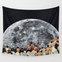rug Wall Tapestries featuring MOONRISE  by Beth Hoeckel