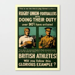 British rugby, football players call for duty Canvas Print