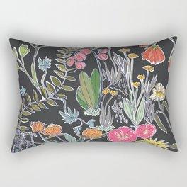 Summer Garden at Midnight Rectangular Pillow