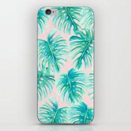 Paradise Palms Blush iPhone Skin