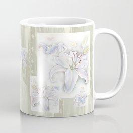 Lilies On Vintage Coffee Mug
