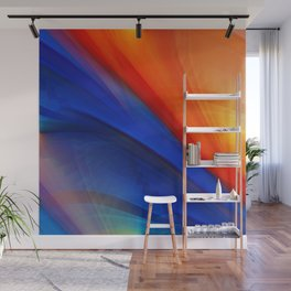 Bright orange and blue Wall Mural