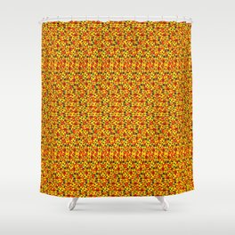 Phillip Gallant Media Design - Misc Red and Yellow Design on Black Shower Curtain