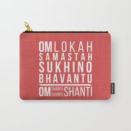 Lokah Samastah Mantra Yoga Pink Carry-All Pouch