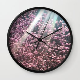 Cherry Blossoms in NYC Wall Clock