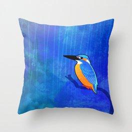Common Kingfisher (Alcedo atthis) Throw Pillow