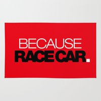 subaru Area & Throw Rugs featuring BECAUSE RACE CAR v6 HQvector by Vehicle