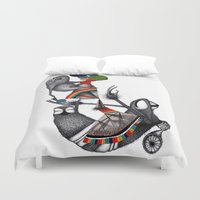 monster Duvet Covers featuring MONSTER by ISSO