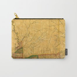 Map Of Mississippi 1820 Carry-All Pouch