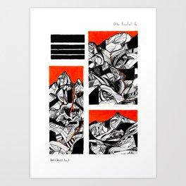 After Wainwright - Bowfell 16 Art Print