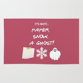 Paper, Snow, A Ghost! - Friends TV Show Rug
