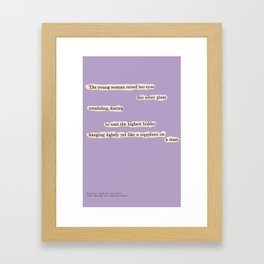 Blackout Poem {008.} Framed Art Print