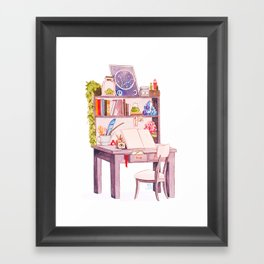 Witchy art challenge day 4 WORKING SPACE Framed Art Print