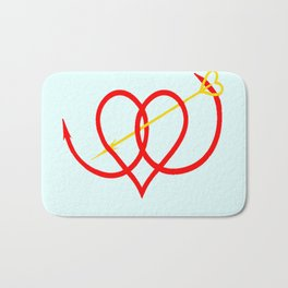 Heart and Arrow Just for You Bath Mat
