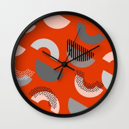 Half-circles Wall Clock