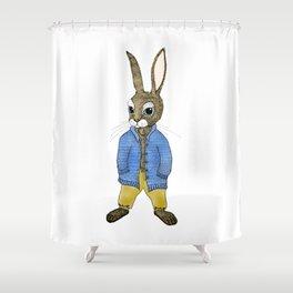 Peter Rabbit Growing Up Shower Curtain