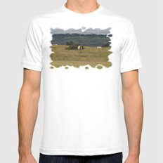 Wild Ponys in Cornwall MEDIUM Mens Fitted Tee White