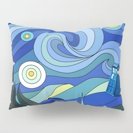 Tardis Art Starry Night Pillow Sham