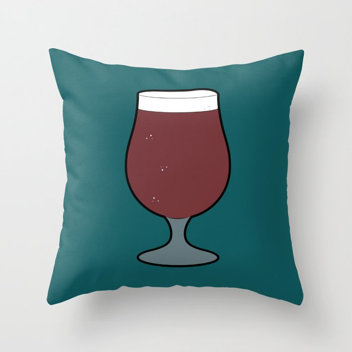 Beer Glass (Tulip) Throw Pillow