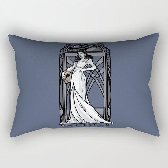 The Flying Man Rectangular Pillow