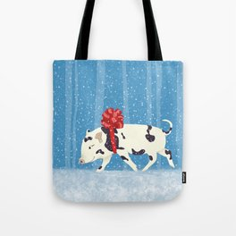 Cute Little Pig Holiday Design Tote Bag