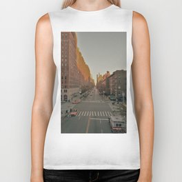 The Yellow Muted City (Color) Biker Tank