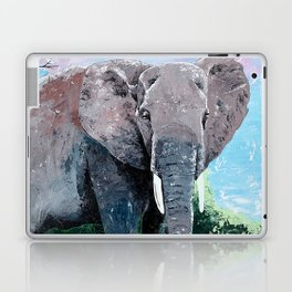 Animal - The big elephant - by LiliFlore Laptop & iPad Skin