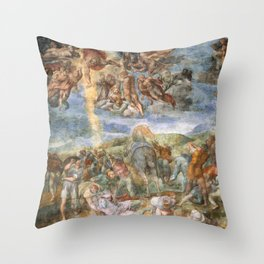 """Michelangelo """"The Conversion of Saul"""" Throw Pillow"""