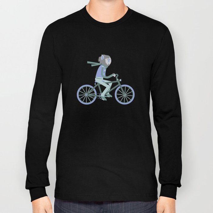 Werewolf Goes For a Ride Long Sleeve T-shirt