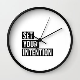 Set Your Intention Wall Clock