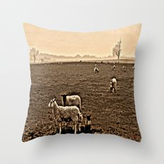 Redeemed with a Lamb Throw Pillow
