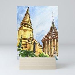 Bangkok Buddhist Temple Thailand Mini Art Print
